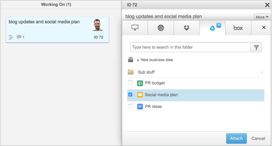 How to integrate Dropbox with Projectplace