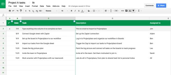 Hur Google Sheets-integration fungerar