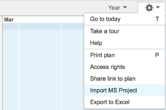 Import your MS Project file to Projectplace