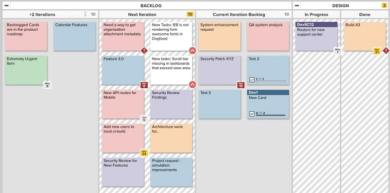 WIP limits on an online Kanban board show when a lane has reached capacity, and that adding work items might negatively impact speed.