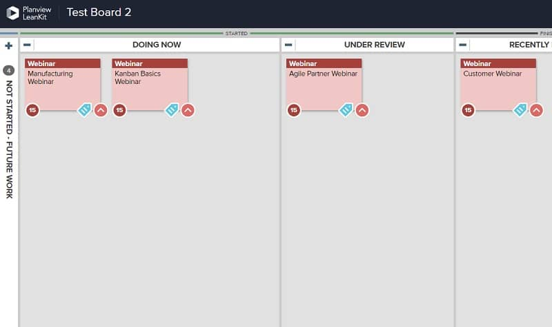 A Kanban card template allows you to easily create cards that represent recurring work.
