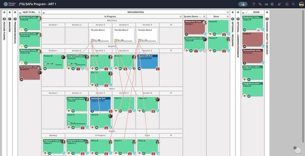 The right software allows companies to synchronize project planning and coordinate work across teams to execute at scale.