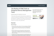 The Reality of ITSM Tools as Enterprise Service Management Tools