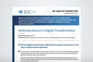 Achieving Success in Digital Transformation