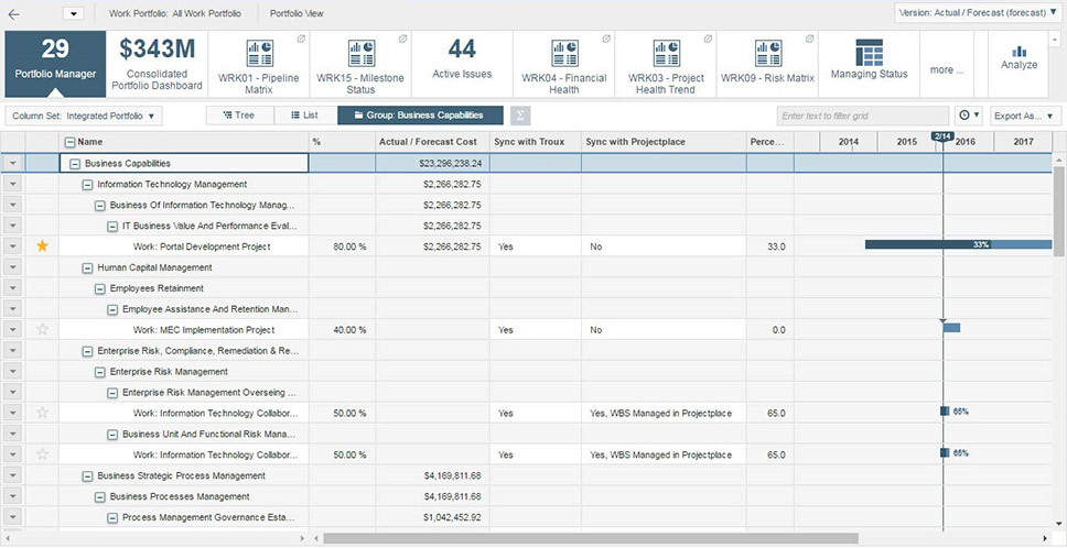 Manage project portfolios in a single system to ensure success