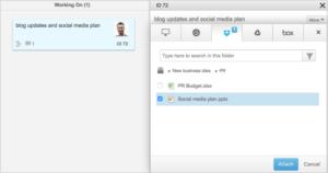 So integrieren Sie Dropbox in Projectplace