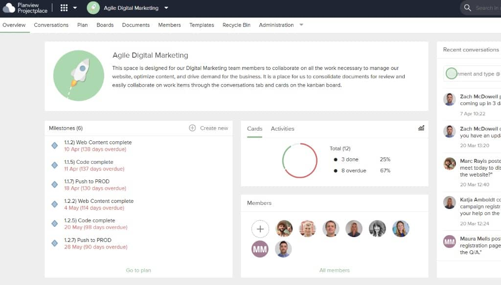 Agile project management can be difficult without digital workspaces for team collaboration, particularly if some or all the team works remotely.