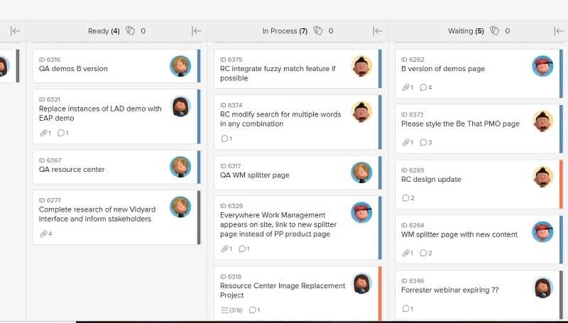 Halten Sie Projekte auf Kurs und binden Sie Teams mithilfe eines Online Kanban Boards in Ihre Projektmanagement-Software ein.