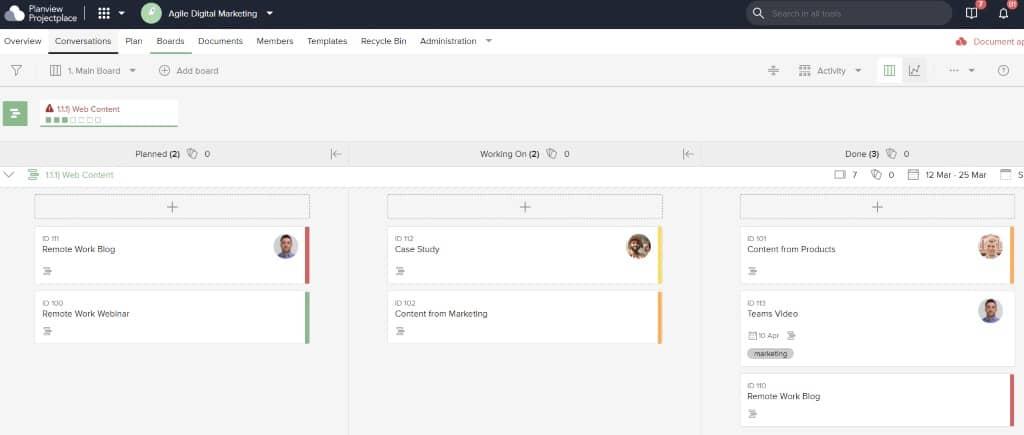 Projekte mit visueller Projektmanagement-Software zu planen, zu organisieren und zu verwalten, erleichtert das Projektmanagement.