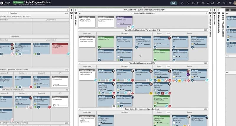 Rolling up Team-level work into a Program-level view supports Program Increment (PI) Planning, a pivotal event in the Scaled Agile Framework.