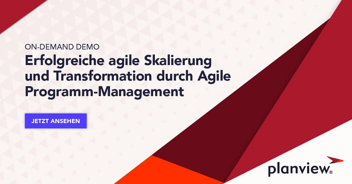 On-Demand Demo: Erfolgreiche agile Skalierung und Transformation durch Agile Programm-Management